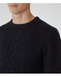 Reiss - Blue Tale Chunky Cable Knit Jumper for Men - Lyst