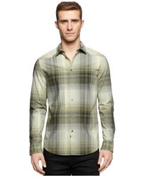 Calvin Klein Jeans | Natural Ombre Plaid Shirt for Men | Lyst