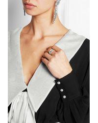 Alessandra Rich - Black Silk-Georgette Gown - Lyst
