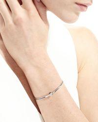 Borgioni | Metallic 18k White Gold Pavé Blue Sapphire Handcuff Bracelet | Lyst