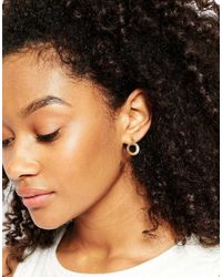 ASOS | Metallic Limited Edition Mismatch Donut Cube And Crystal Stud Earring Pack | Lyst