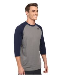 New Balance - Blue 3/4 Raglan for Men - Lyst