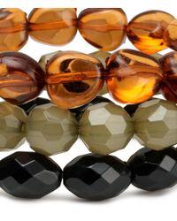 H&M - Orange 3pack Bracelets - Lyst