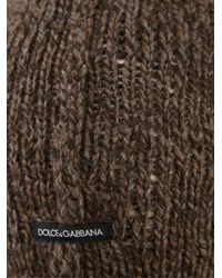Dolce & Gabbana - Brown Knitted Hat for Men - Lyst