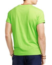 Polo Ralph Lauren | Green Classic Fit Jersey Pocket Crewneck T-Shirt for Men | Lyst