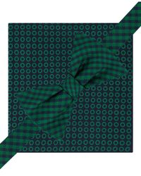 Tommy Hilfiger | Green Oxford Grid Pre-tied Bow Tie And Pinwheel Pocket Square Set for Men | Lyst