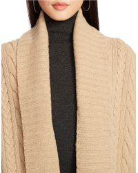 Polo Ralph Lauren | Natural Cabled Wool-cashmere Cardigan | Lyst