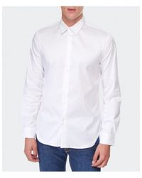 PS by Paul Smith - White Diamond Collar Shirt for Men - Lyst