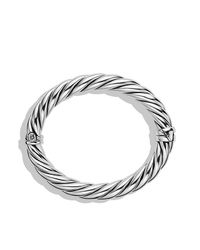 David Yurman | Metallic Sculpted Cable Bangle Bracelet, 10mm | Lyst