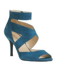 Nine West | Blue Good2go Ankle Strap Pumps | Lyst