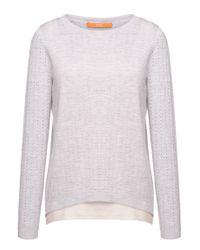 BOSS Orange | Gray 2-in-1-style Sweater 'ivettah' | Lyst
