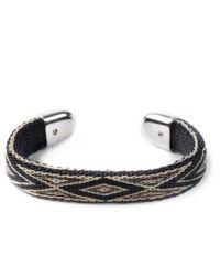 Chamula | Black/Brown/Beige Bendable Bracelet for Men | Lyst