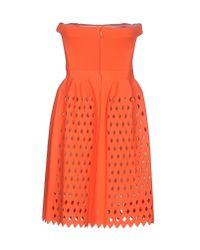 Fendi - Orange Short Dress - Lyst