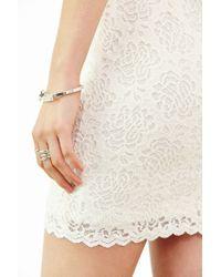 Kimchi Blue | White Spaghetti-strap Bodycon Lace Dress | Lyst