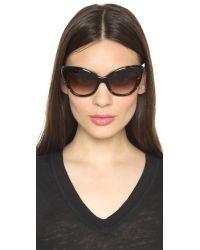 Kate Spade | Brown Odelia Sunglasses | Lyst