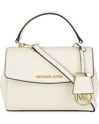 MICHAEL Michael Kors - White Ava Extra Small Saffiano Leather Cross Body Bag - Lyst