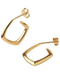 Dinny Hall | Metallic Small Gold-plated Cushion Hoops | Lyst