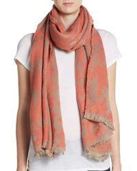 Saks Fifth Avenue | Pink Houndstooth Scarf | Lyst