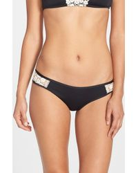 Lucky Brand - Black 'natural Connection' Hipster Bikini Bottoms - Lyst
