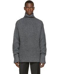 3.1 Phillip Lim | Gray Grey Knit Turtleneck for Men | Lyst