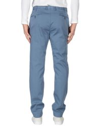PT01 - Blue Casual Trouser for Men - Lyst