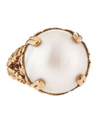 Stephen Dweck | Metallic 18Mm Round Mabe Pearl Ring | Lyst