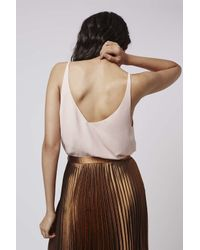 TOPSHOP - Pink Tall V-plunge Cami - Lyst