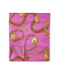Ralph Lauren | Pink Abigale Silk Scarf | Lyst