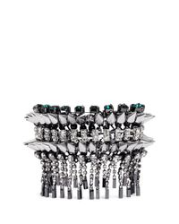 Venna | Metallic Crystal Stud Fringe Bracelet | Lyst