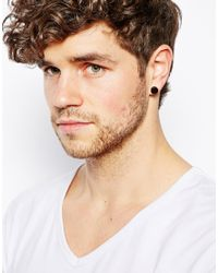 ASOS - Black Plug Earring Pack for Men - Lyst