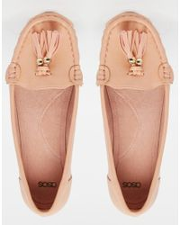 ASOS | Pink Mock Up Flat Shoes | Lyst