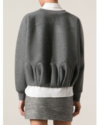 Viktor & Rolf - Gray Gathered Effect Sweatshirt - Lyst