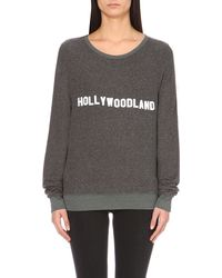 Wildfox - Gray Hollywoodland Jersey Sweatshirt - Lyst