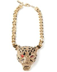 Roberto Cavalli | Metallic Panther Necklace | Lyst