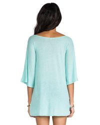 Wildfox - Blue Born On The Beach Tahiti Tunic in Green - Lyst
