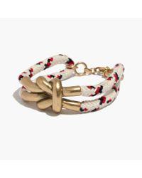 Madewell - Metallic Ropemix Bracelet - Lyst