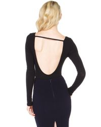 AKIRA - Simple Little Ribbed Black Bodysuit - Lyst