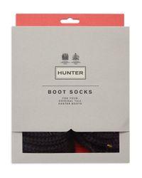Hunter | Black Half-cardigan Boot Socks | Lyst