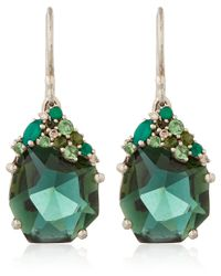 Alexis Bittar Fine | Silver Green Quartz Drop Earrings | Lyst