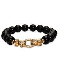 Sheryl Lowe - Black Onyx Diamond Buckle Bracelet - Lyst