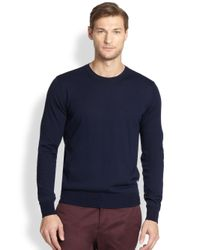 F. Faconnable   Blue F Crewneck Sweater for Men   Lyst