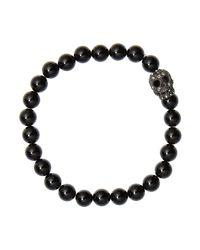 Simon Carter - Black Crystal Skull Bead Bracelet for Men - Lyst