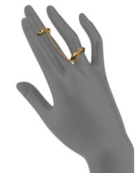 Chloé | Metallic Carly Chain & Band Double Ring | Lyst