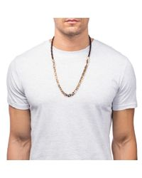 Lulu Frost | Metallic Bullion 50/50 Necklace for Men | Lyst