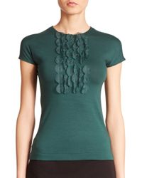 Akris Punto | Green Appliqué-detail Stretch-modal Top | Lyst