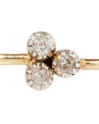 Annina Vogel - Metallic Gold Trefoil Diamond Bangle - Lyst