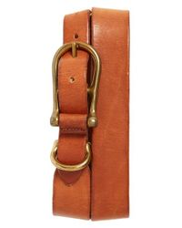 Bills Khakis | Brown 'burnett' Leather Belt for Men | Lyst