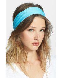 Tasha | Blue Solid Head Wrap | Lyst