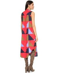Mara Hoffman - Blue Sleeveless Triad Dress - Triad Red - Lyst