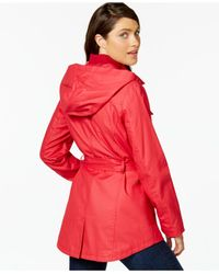 Tommy Hilfiger - Red Hooded Utility Jacket - Lyst